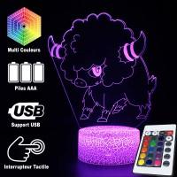 Lampe 3D Pokémon Frison caractéristiques