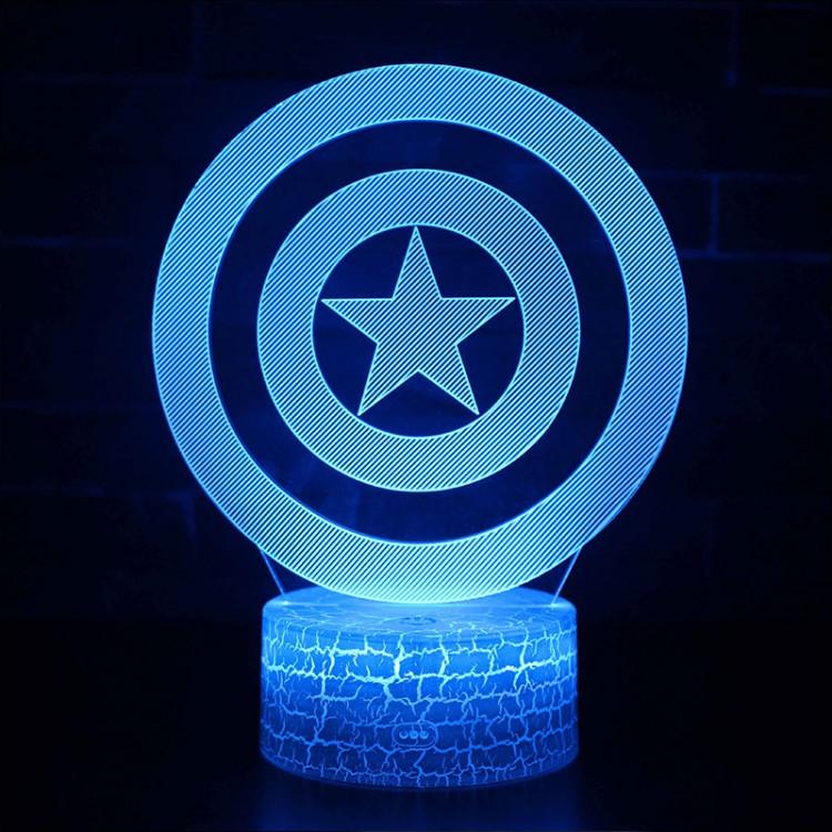 Lampe 3D Bouclier de Captain America