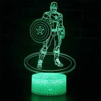 Lampe 3D Captain America