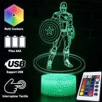 Lampe 3D Captain America caractéristiques