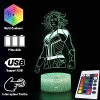 Lampe 3D Captain Marvel caractéristiques