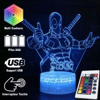 Lampe 3D Deadpool caractéristiques
