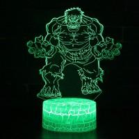 Lampe 3D Hulk