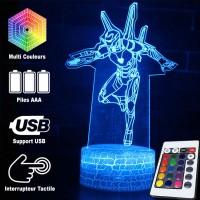 Lampe 3D Iron Man Infinity War caractéristiques