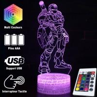 Lampe 3D Iron Man missiles caractéristiques