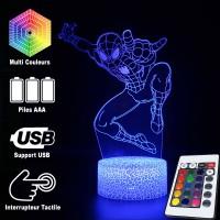 Lampe 3D Spider-Man Avengers caractéristiques
