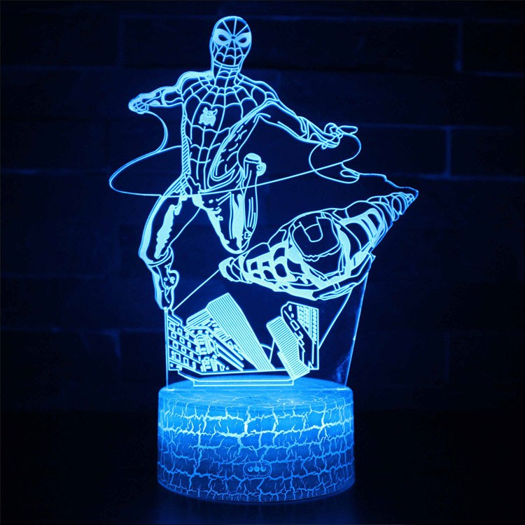 Lampe 3D Spider-Man et Iron Man Avengers
