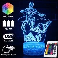 Lampe 3D Spider-Man et Iron Man Avengers caractéristiques
