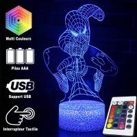 Lampe 3D Spider-Man toile caractéristiques