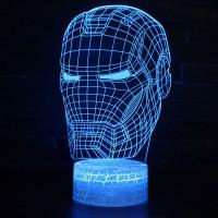 Lampe 3D Casque Iron-Man