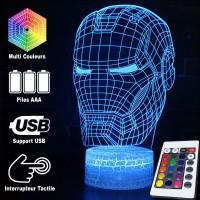 Lampe 3D Casque Iron Man caractéristiques