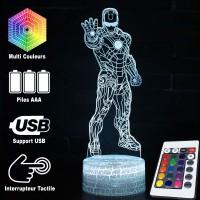Lampe 3D Iron Man caractéristiques