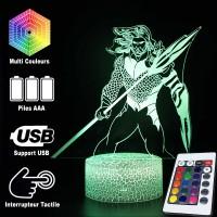 Lampe 3D Aquaman caractéristiques