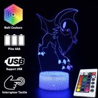 Lampe 3D Pokémon Absol caractéristiques
