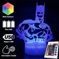 Lampe 3D Batman caractéristiques