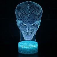 Lampe 3D tête de Joker