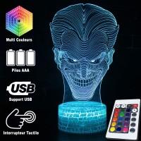 Lampe 3D tête de Joker caractéristiques