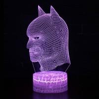 Lampe 3D tête de Batman