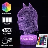 Lampe 3D tête de Batman caractéristiques
