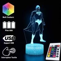 Lampe 3D Superman caractéristiques