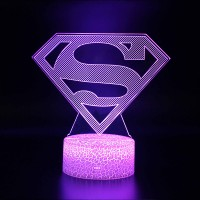 Lampe 3D Superman logo