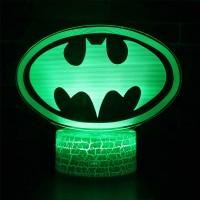 Lampe 3D Batman logo