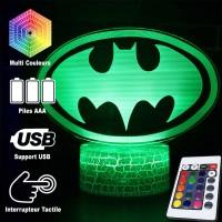Lampe 3D Batman logo caractéristiques