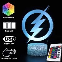 Lampe 3D Flash logo caractéristiques