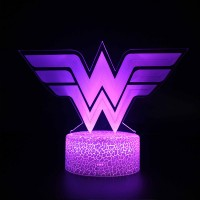 Lampe 3D Wonder Woman logo