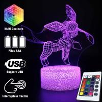 Lampe 3D Pokémon Givrali caractéristiques