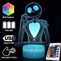 Lampe 3D Jack Skellington caractéristiques