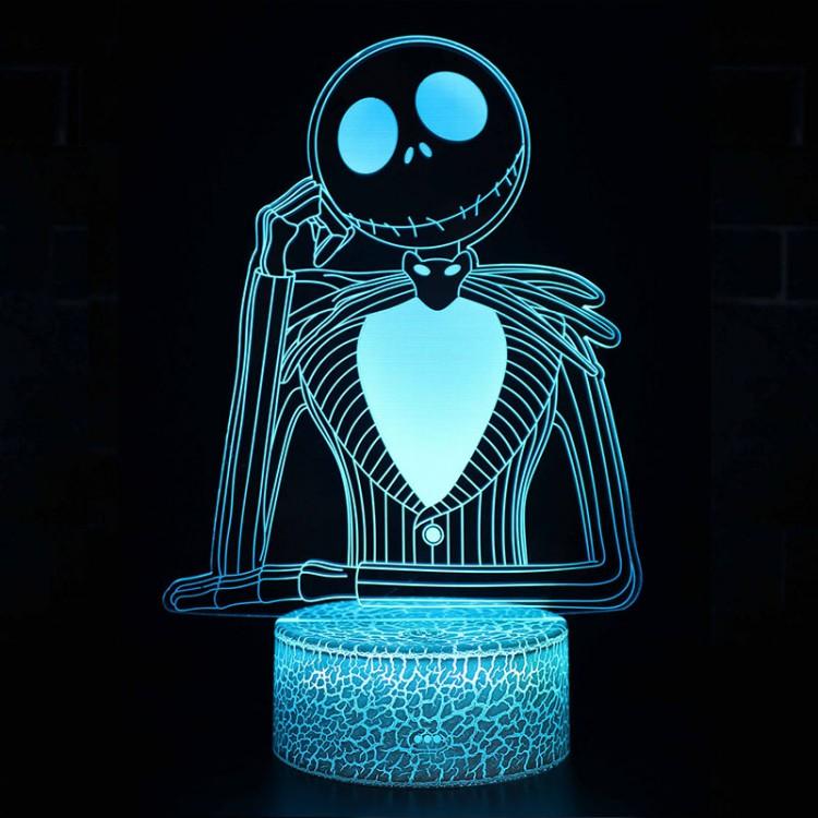 Lampe 3D Jack Skellington