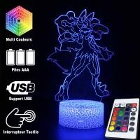 Lampe 3D Pokémon Lucario caractéristiques