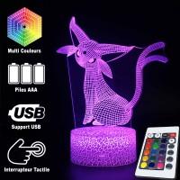Lampe 3D Pokémon Mentali caractéristiques