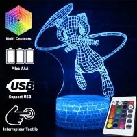 Lampe 3D Pokémon Mew caractéristiques