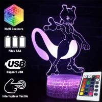 Lampe 3D Pokémon Mewtoo caractéristiques