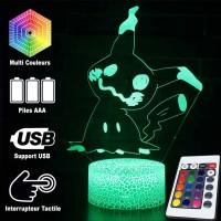 Lampe 3D Pokémon Mimiqui caractéristiques