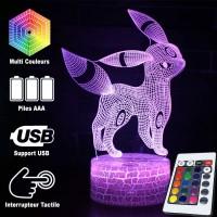 Lampe 3D Pokémon Noctali caractéristiques