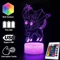 Lampe 3D Pokémon Nymphali caractéristiques