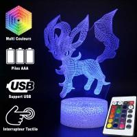 Lampe 3D Pokémon Phyllali caractéristiques
