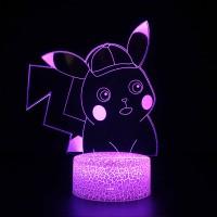 Lampe 3D Pokémon Détective Pikachu Mignon