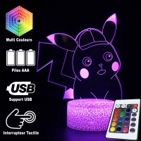 Lampe 3D Pokémon Détective Pikachu Mignon caractéristiques