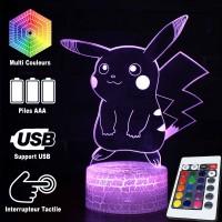 Lampe 3D Pokémon Pikachu caractéristiques