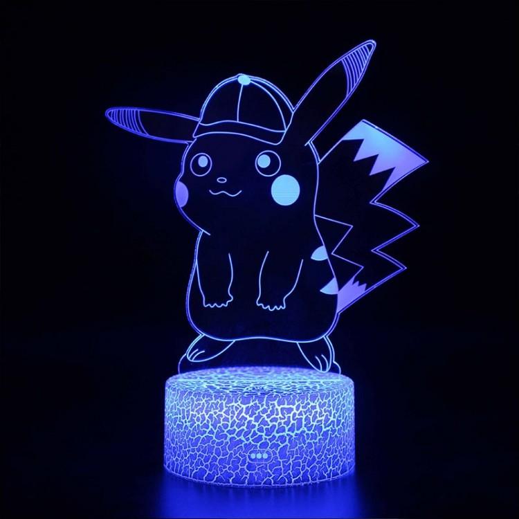 Lampe 3D Pokémon Pikachu casquette
