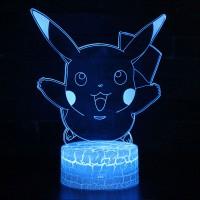 Lampe 3D Pokémon Pikachu heureux