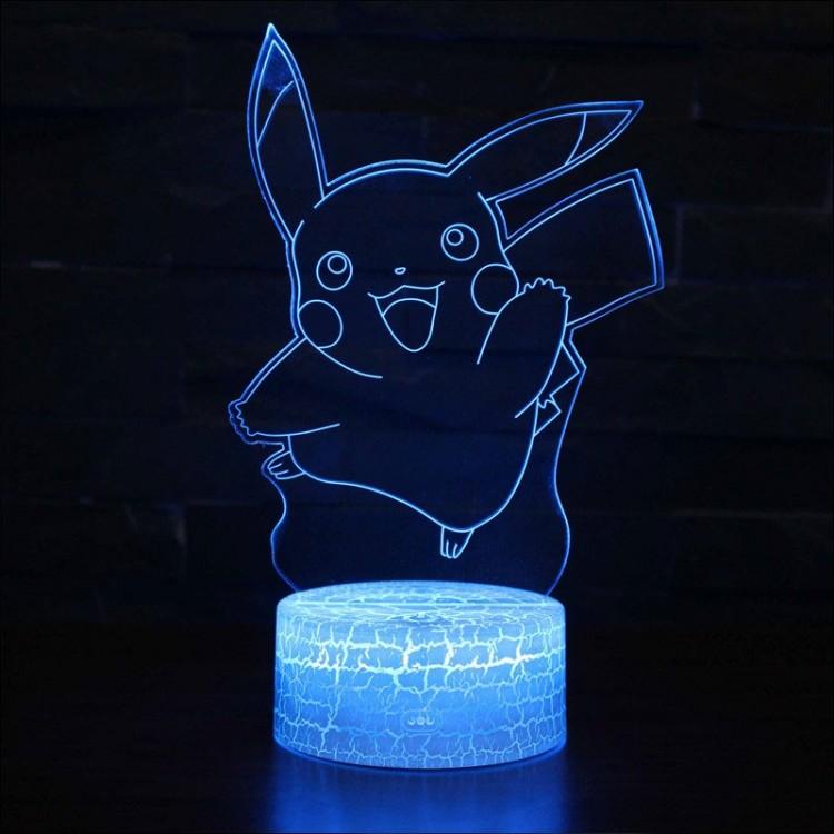 Lampe 3D Pokémon Pikachu qui saute