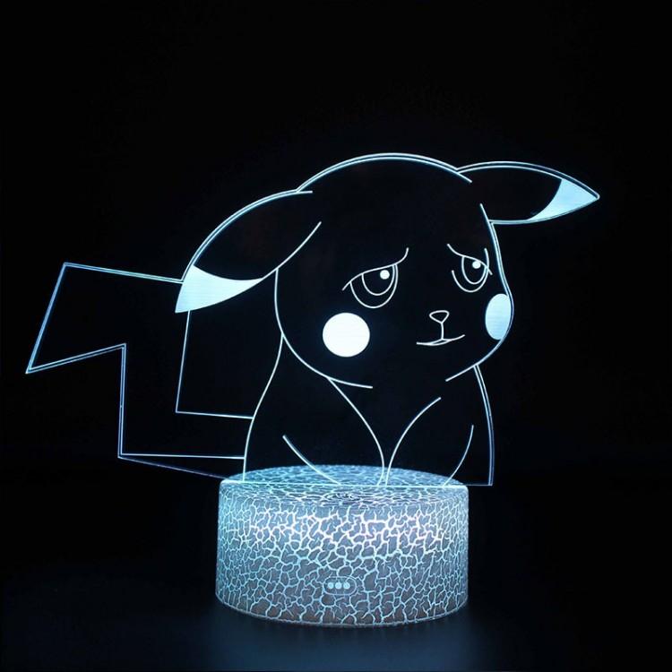 Lampe 3D Pokémon Pikachu triste