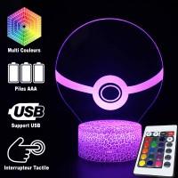 Lampe 3D Pokémon Pokéball caractéristiques