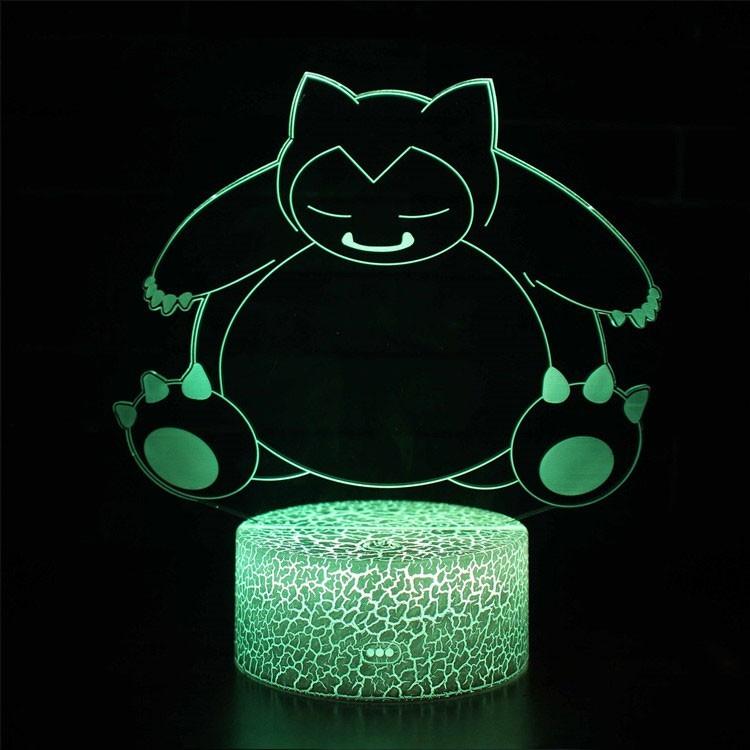 Lampe 3D Pokémon Ronflex