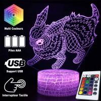 Lampe 3D Pokémon Pyroli caractéristiques